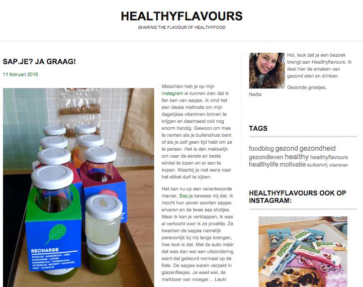 Healthyflavours ervaring