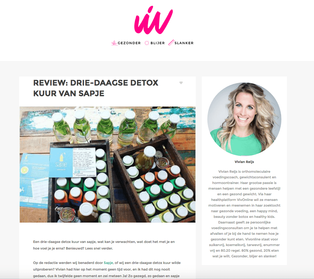 vivonline detoxkuur review