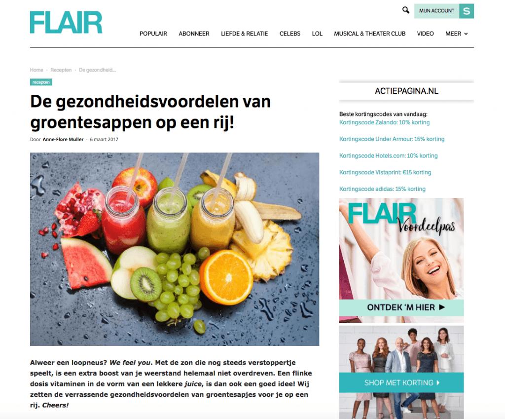 Flair Magazine Sapje