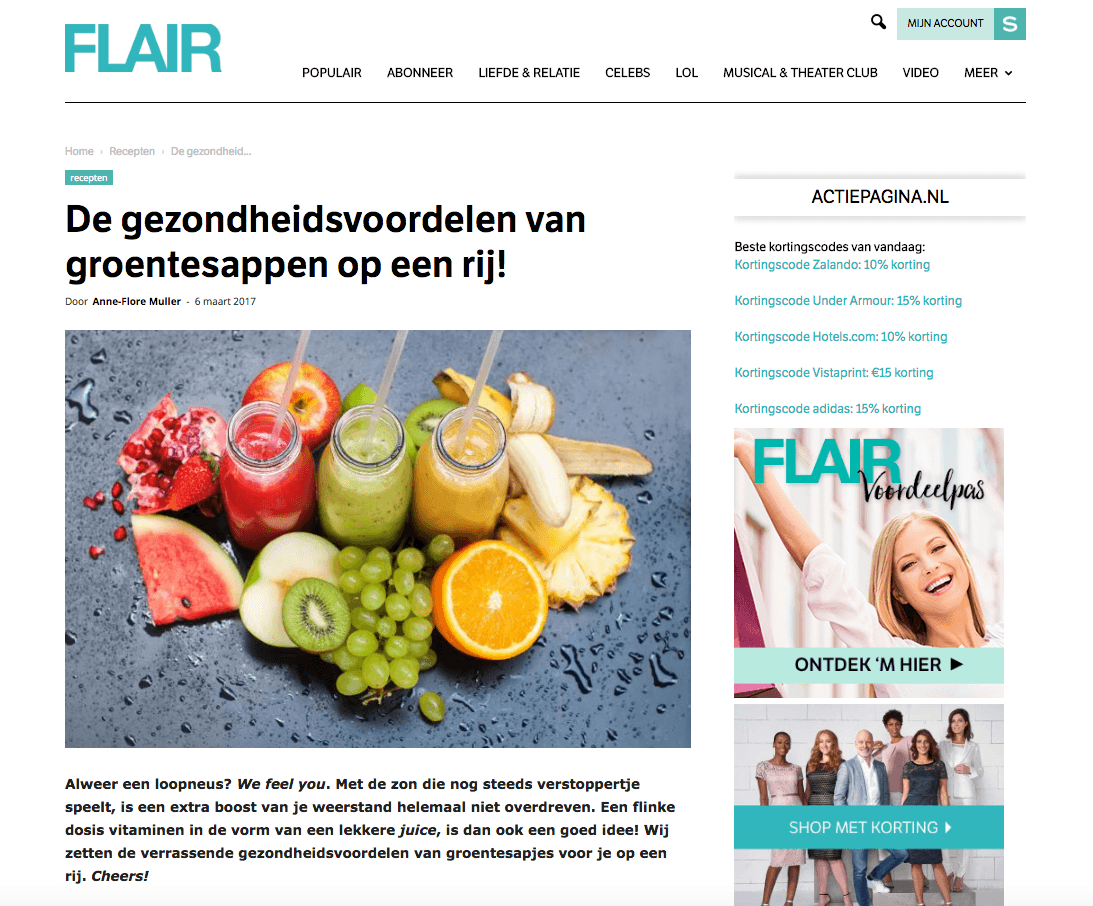 Flair Magazine Sapje