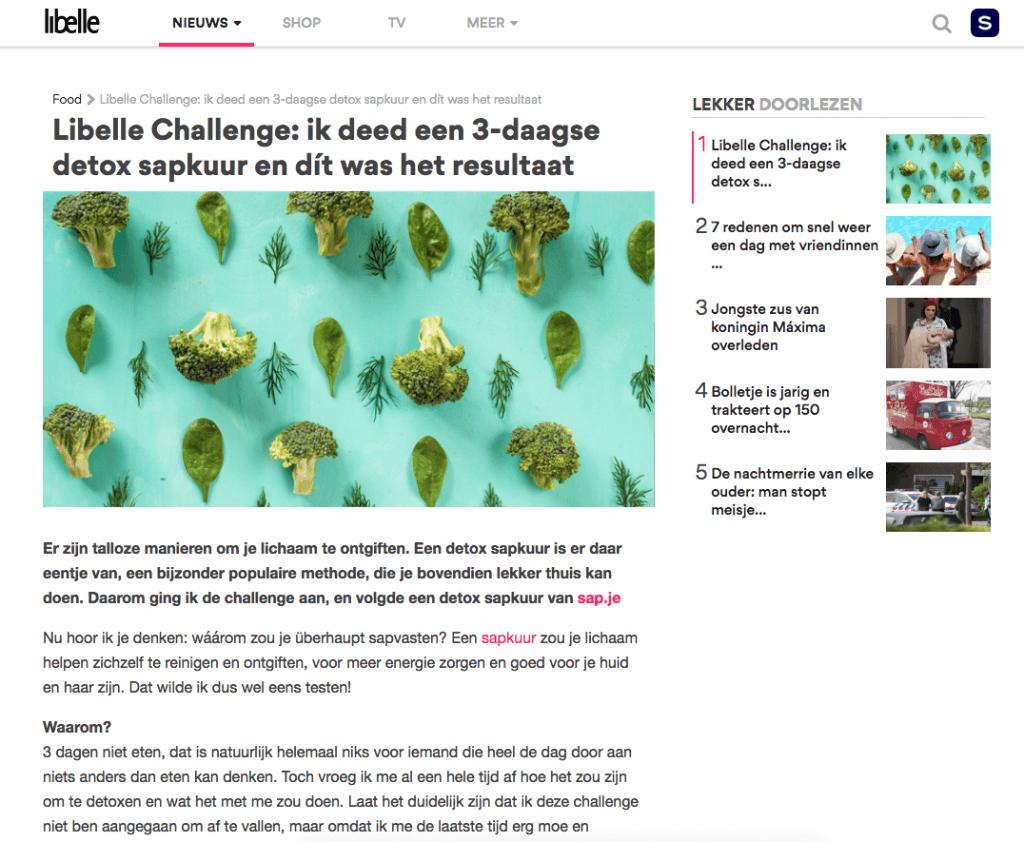 libelle detox sapkuur