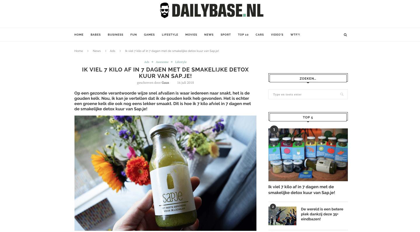 Dailybase 7 dagen sapkuur