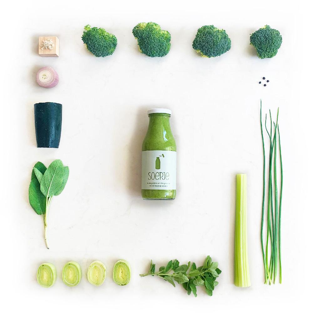 Ingrediënten biologische brocolisoep