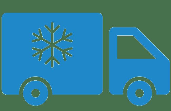 diepvries-transport van verse groentensap