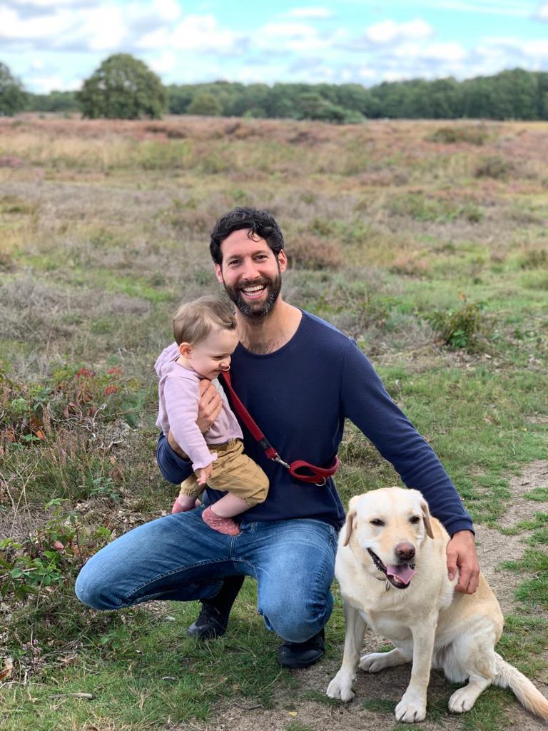 Foto auteur Joel Goudsmit met gezin