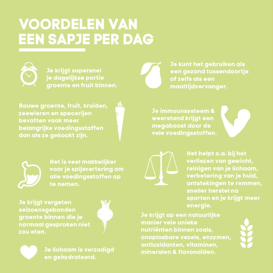 voordelen van groente sap