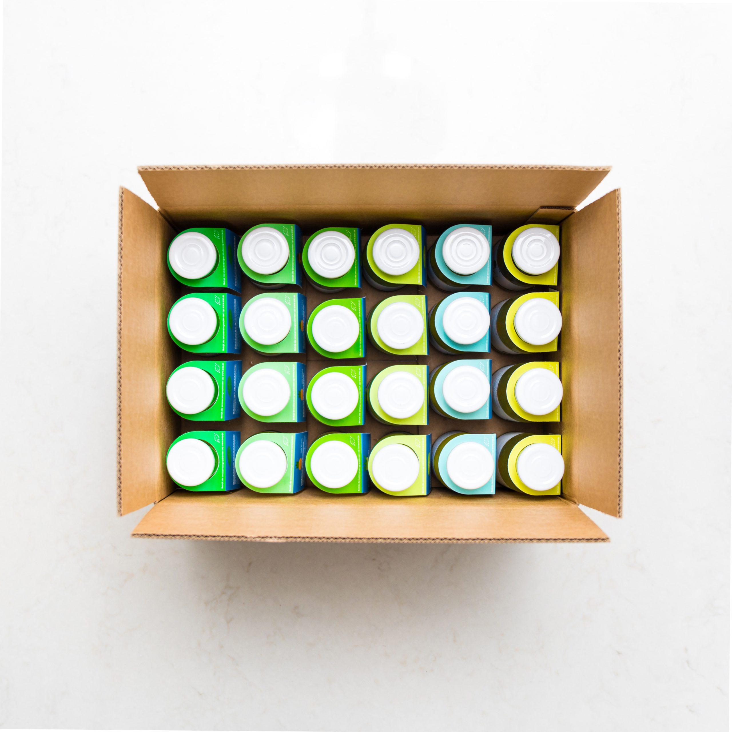 Groene groentesappen box