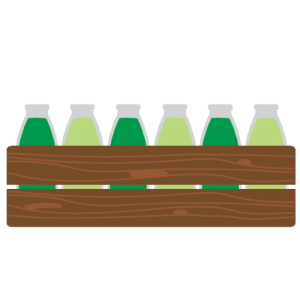super groene sapbox icoon