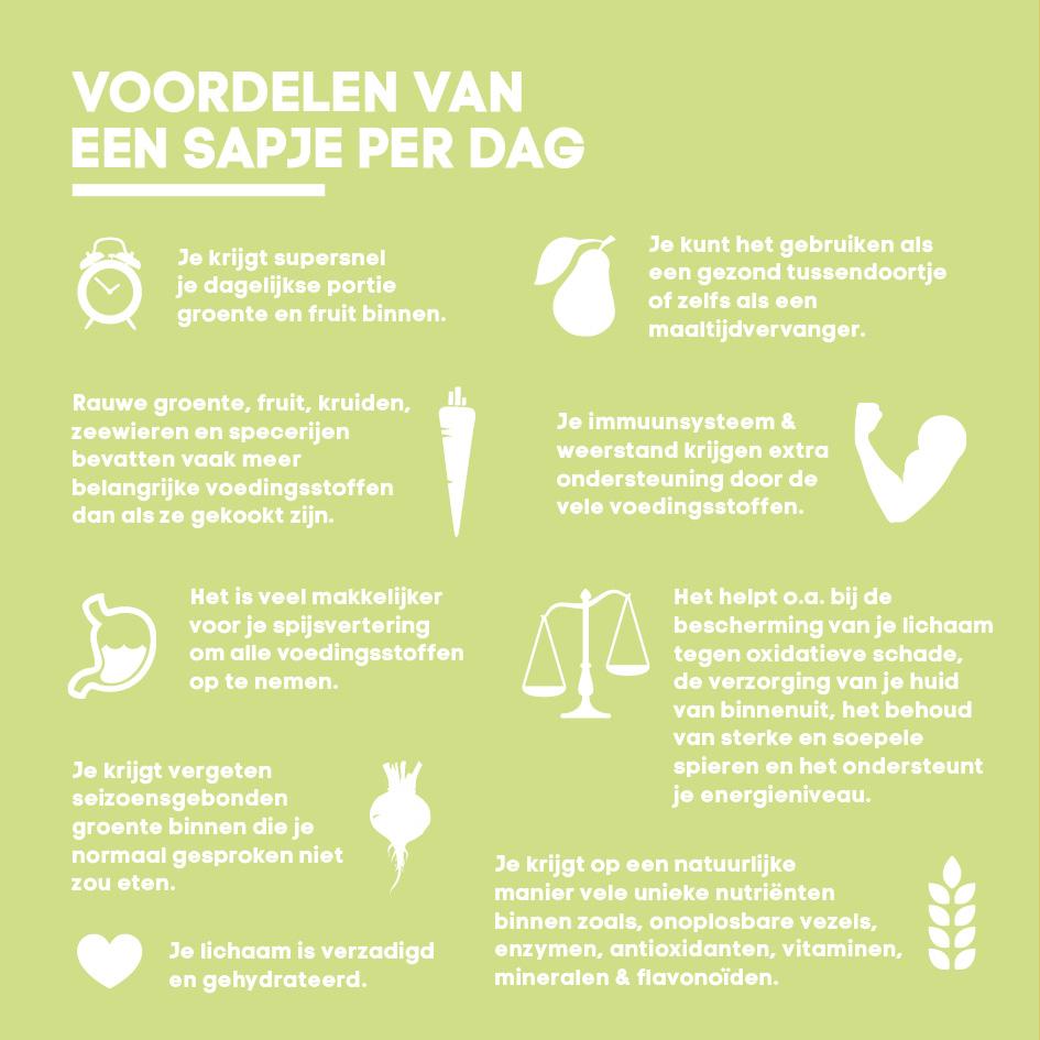voordelen groentesap drinken